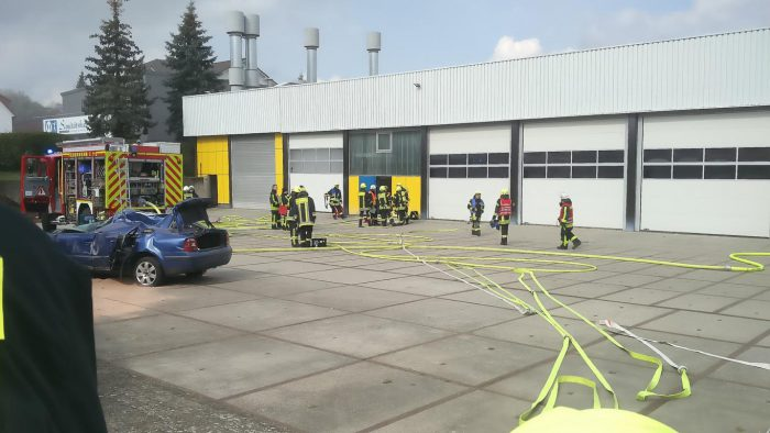 Übung Personenrettung im Gebäude